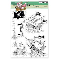 New Penny Black PIRATES Clear Stamps Boys Ship Treasure Flag Skull