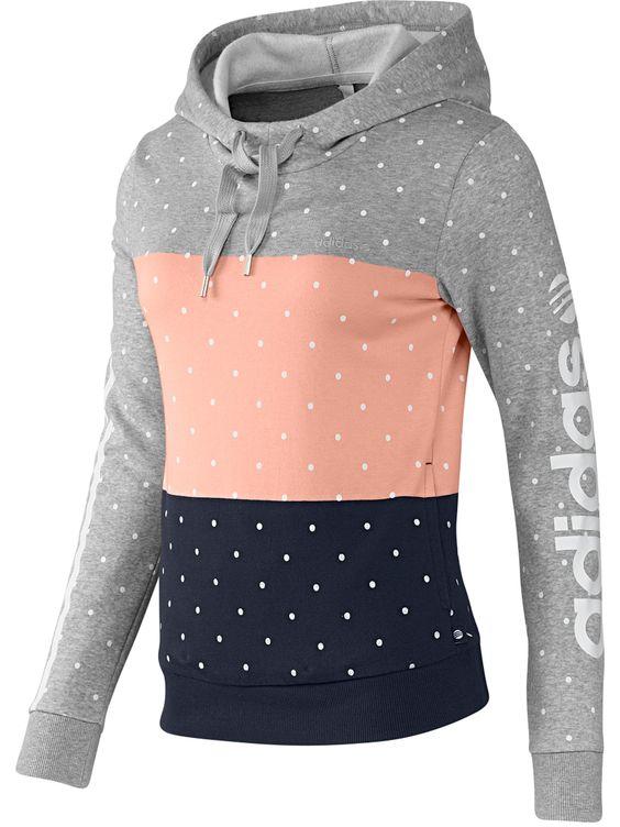 adidas NEO Colorblock Hoodie, $50, adidas.com   - Seventeen.com