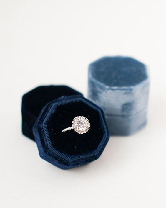 Ring Box Velvet Ring Box Vintage Proposal Ring Box