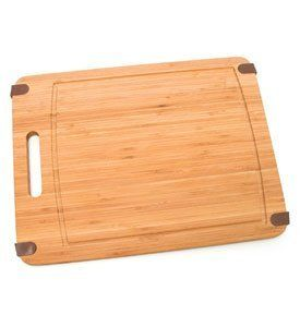 Lipper International 11-Inch by 15-Inch Non-Slip Silicone Corners Cutting Board, Bamboo by Lipper International, Inc.. $17.10. Durable bamboo construction. Use mineral oil to maintain the appearance.. Slim profile easily fits in cabinets or your pantry.. Rrying handle makes this cutting board easy to transport from the cabinet to the counter.. Dimensions: 11 1/2-inch w x 15-inch d x 5/8-inchh. Lipper International has developed a complete line of woodenware products consi...