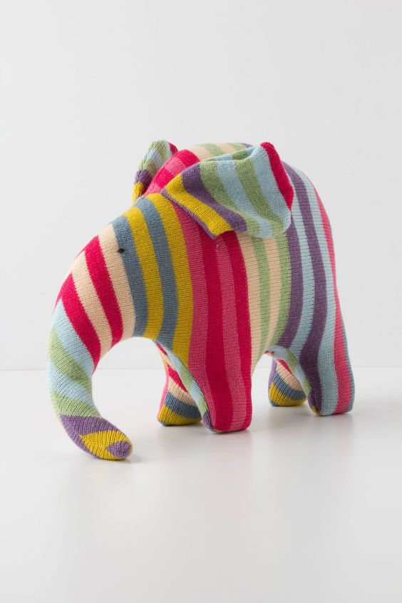 Confectionary Wool Elephant - Anthropologie.com