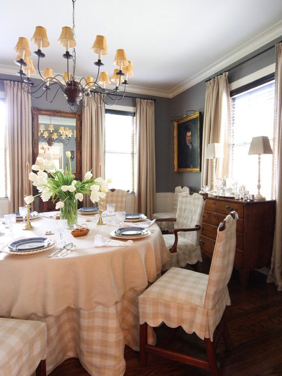Traditional Dining Rooms Chair Covers And Dining Room Design On Pinterest