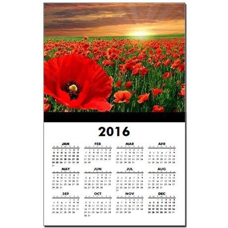 Poppy Sunset Calendar Print on CafePress.com