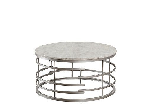The Look Of Elegant Look Of Silver And Marble Paired With A Hint Of Glamour And Modern Styling Come Coffee Table Marble Round Coffee Table Marble Coffee Table