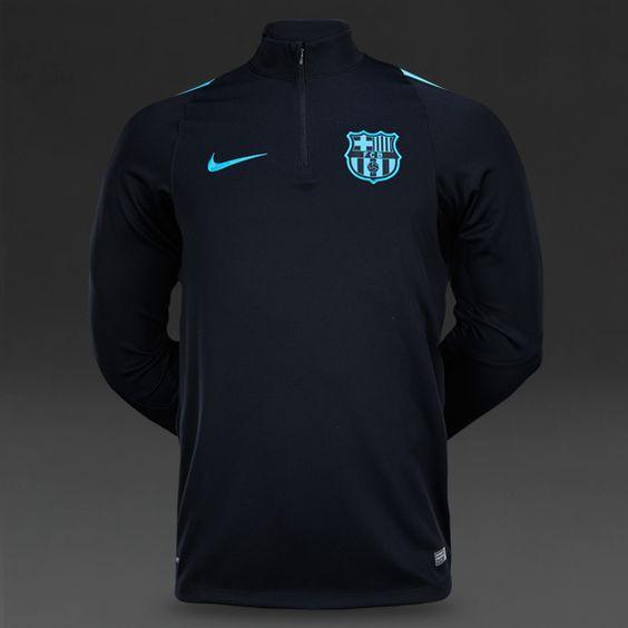 Nike FC Barcelona Drill Top - Light Current Blue/Black