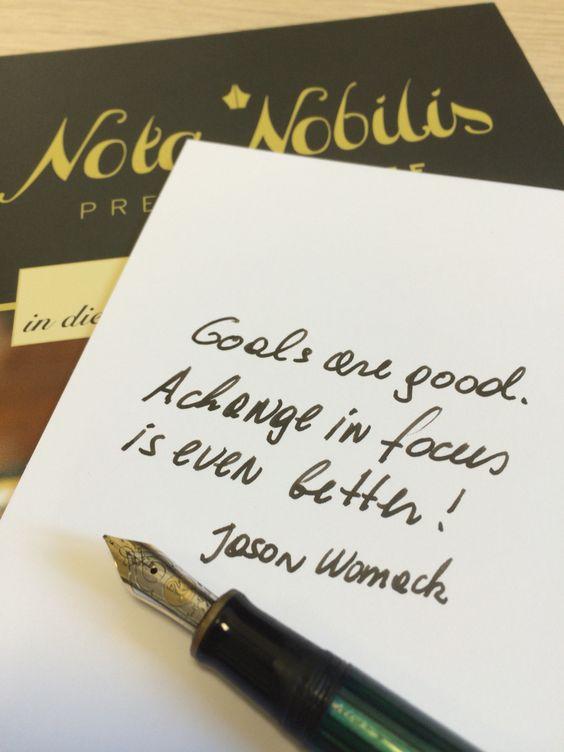 Schreiben Sie Ihre Ziele mit der #Premiumtinte Sailor's Black Ink Pigment nieder.
