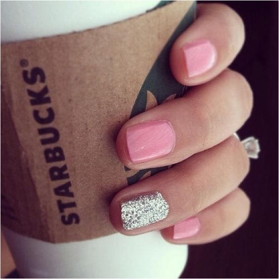 Highlight your ring by getting a manicure and coloring your ring finger nail with a vibrant or metallic color.