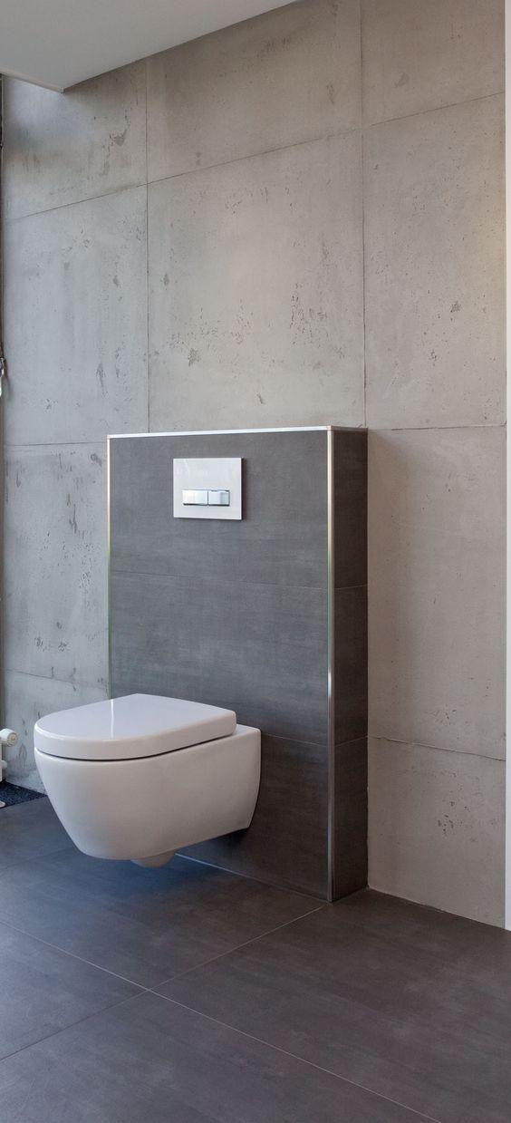 fliesen in betonoptik kombiniert mit gespachteltem beton. Black Bedroom Furniture Sets. Home Design Ideas
