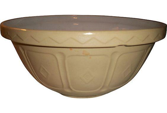 English Yellowware Bowl.