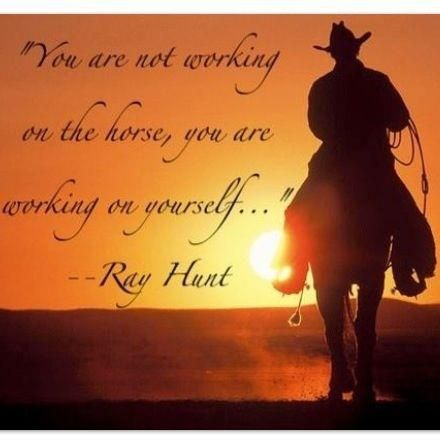 .horses and Ray Hunt best combination