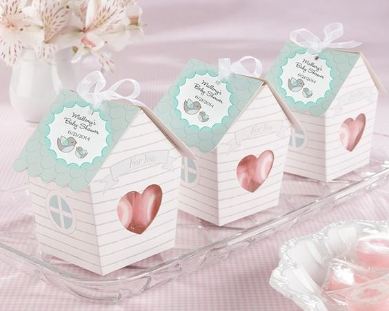 Baby shower favor boxes ideas : Home tweet favor boxes set of baby shower ideas