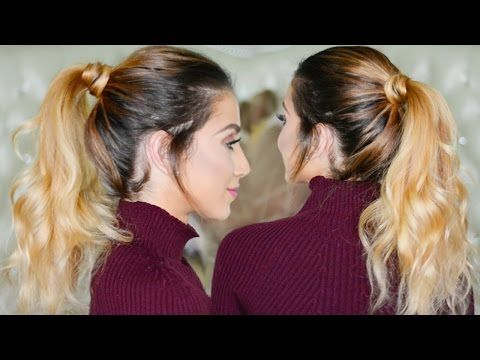 Perfect Ponytail Hair Tutorial With & Without Hair Extensions - YouTube