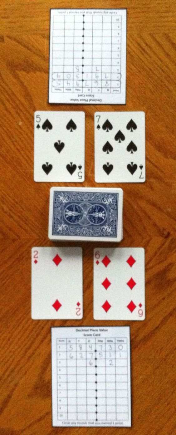 In this quick and easy game, students compete against one another to form the highest decimal number using playing cards. This game challenges students to think critically about the place value of digits in decimal numbers and how each digit's placement impacts the total value of the number.