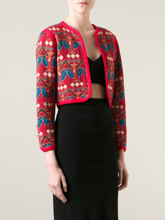 Yves Saint Laurent Vintage Cropped Cardigan - Dressing Factory - Farfetch.com