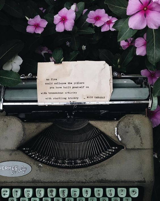 your existence is art // poetry on the typewriter by noor unnahar // words quotes pale indie grunge hipsters tumblr ae… | Pretty words, Words quotes, Lyric quotes