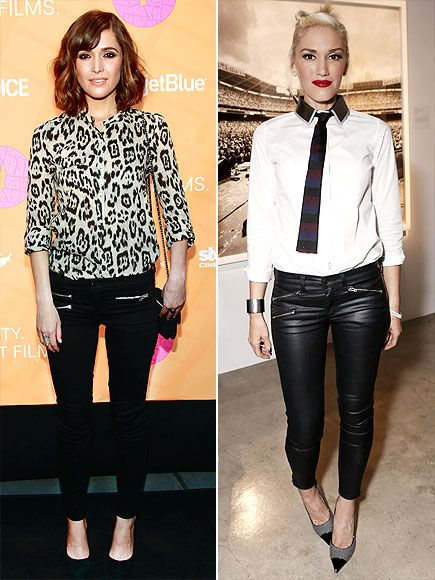 Front zippers (as seen on Rose Byrne and Gwen Stefani) give basic black pants a sexy edge.