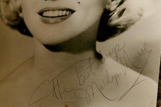Marilyn Monroe's autograph