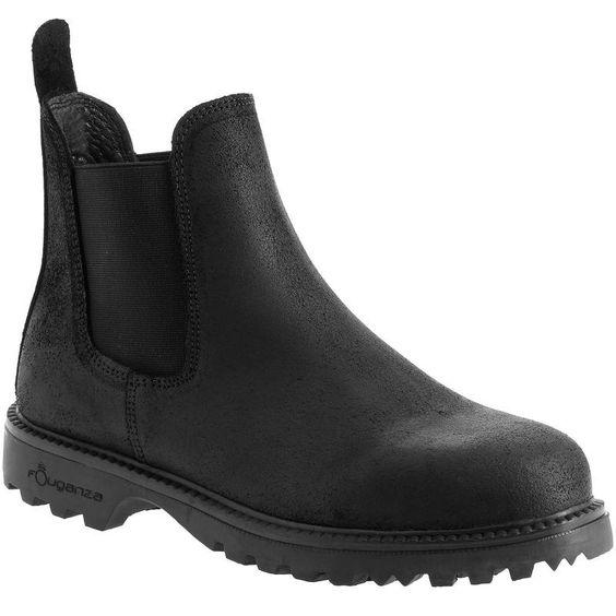 39,99€ - EQUITATION Equitation - Boots d'équitation SENTIER 300 noir du 36 au 46 - FOUGANZA
