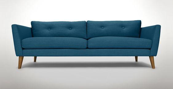 Emil Marine Blue Sofa - Sofas - Article   Modern, Mid-Century and Scandinavian Furniture