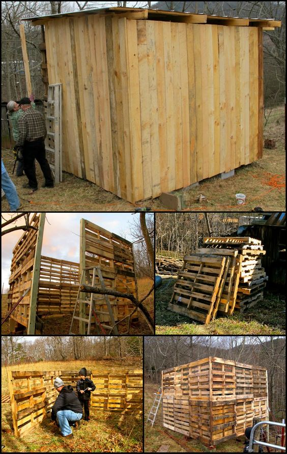 How To Build A Goat Barn From Recycled Pallets  http://theownerbuildernetwork.co/zyqk  Looking for ideas on how to make a small and low cost barn? Then this project is for you!: