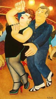 """Beryl Cook Prints. """"Dirty Dancing"""""""