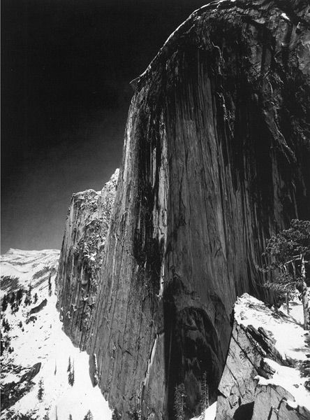 His image Monolith is the one that got me hooked. The intensity of the blacks are amazing. Face of Half Dome, Ansel Adams