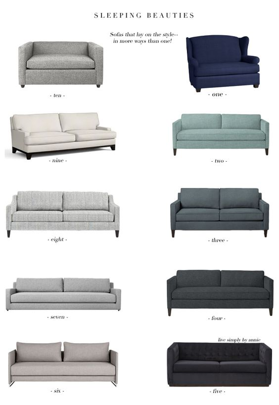 Guests and limited space co-exist!! Super stylish sleeper sofas!