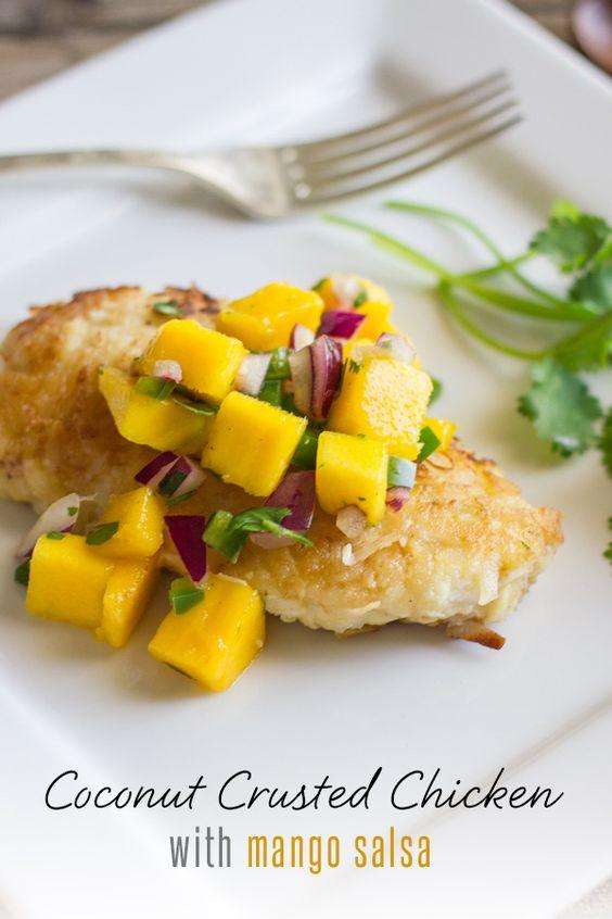 Mango salsa, Mango and Coconut on Pinterest