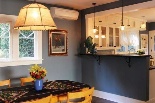 Knock Out Half Wall Between Kitchen Dining Room And Add Bar Top Roomrenovations Farmhouse Style Kitchen Dining Room Remodel Home Remodeling