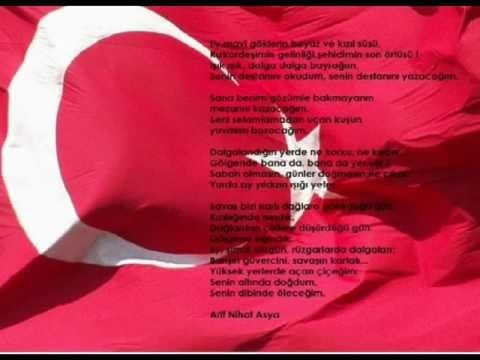 Bayrak Siiri Fon Muzigi Youtube Youtube Siir