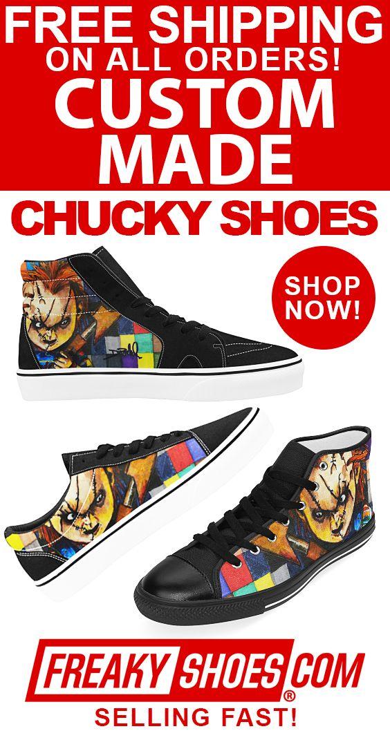 Custom Made Chucky Shoes! Available Now