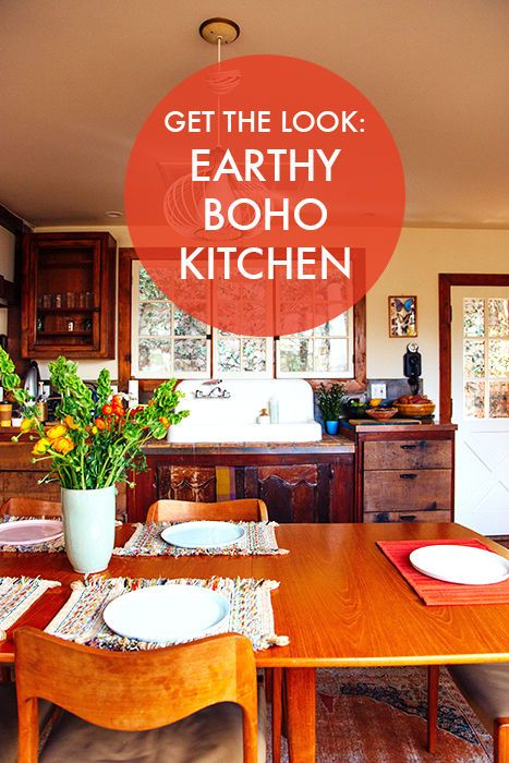 Get the look earthy boho kitchen get the look boho and for Earthy kitchen ideas