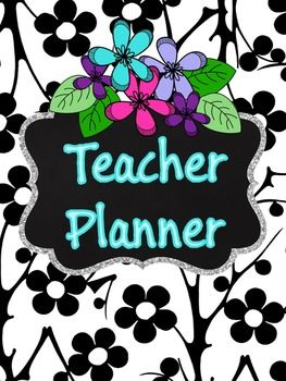 This Editable Flower  themed teacher planner is a complete collection of often-used, printable forms