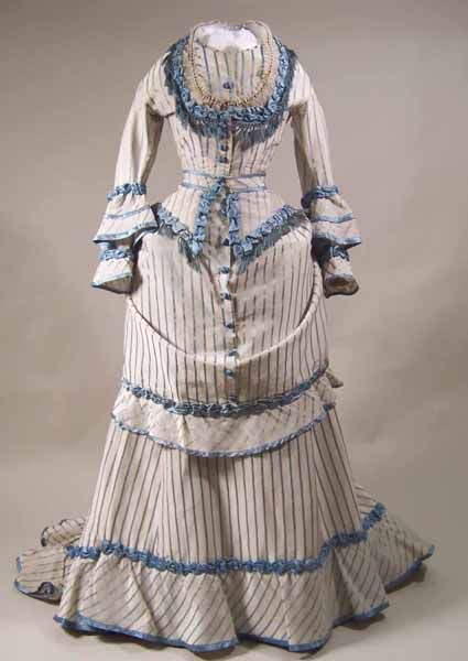 1871-73 I think this is the dress from the Patterns of Fashion 1860-1940 by Janet Arnold