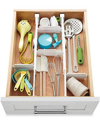Real Simple Real Simple® 6-Piece 2-Way Expandable Drawer Divider from Bed Bath & Beyond   BHG.com Shop