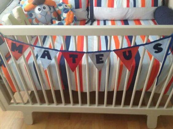 Bandeirolas com letras
