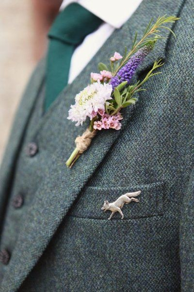 tweed and green.  but not green tweed.