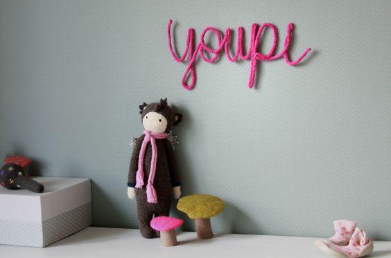 nombre tricotin decorar niños