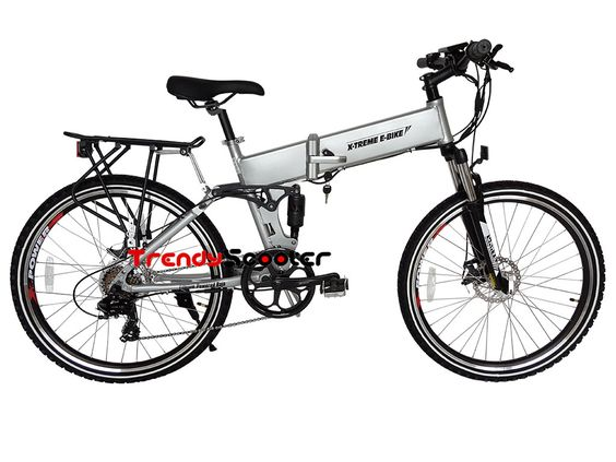 Baja Volt Folding Mountain Electric Bicycle with hidden battery