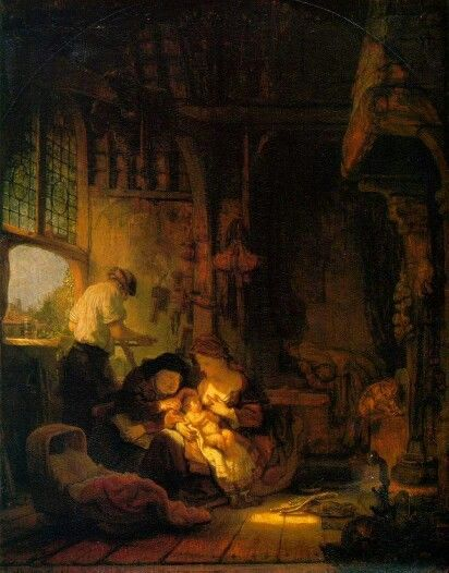 Rembrandt, The Holy Family, or The Carpenter's Household, 1640, Musée du Louvre, Paris, oil on canvas, 41 x 34 cm