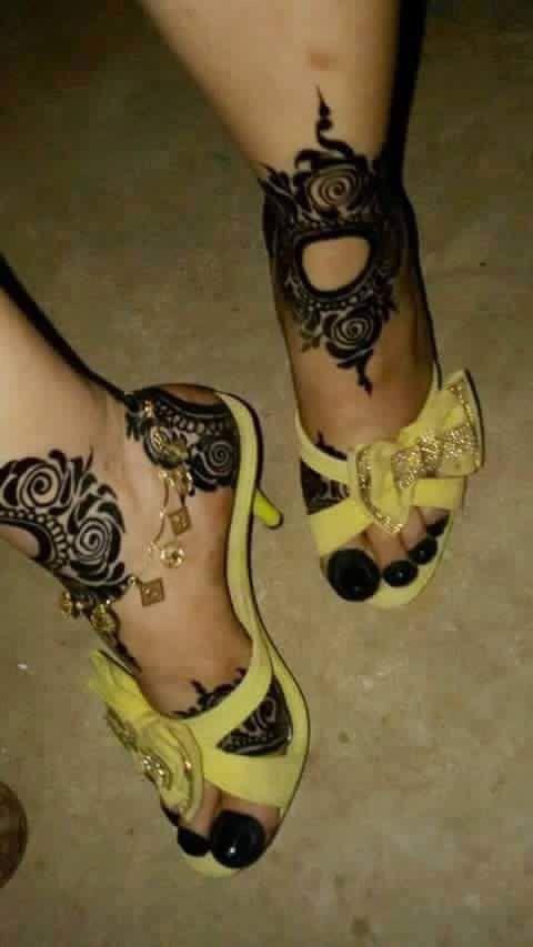 حنه سودانية Leg Henna Henna Body Art Henna Patterns