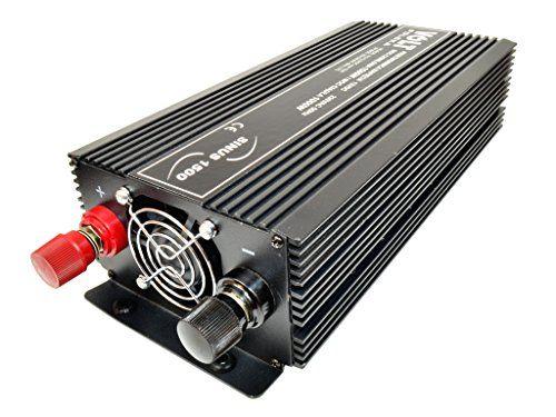 Genial Spannungswandler Wechselrichter Reiseadapter sinus 12V-230V 1500W (SIN-1500-12V)