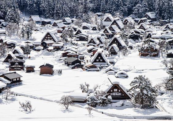 The World Heritage - Shirakawa Village, Gifu, Japan