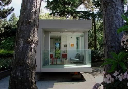 Modelo canadiense de peque a casa prefabricada hecha con - Casas de madera laminada ...