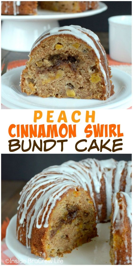 bundt cake cup cakes bars and more bundt cakes swirls peaches cinnamon ...