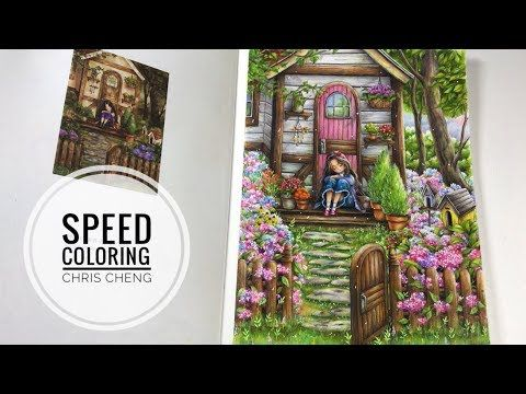 Speed Coloring Waiting Happily Forest Girl S Coloring Book Youtube Forest Girl Coloring Books Colorful Art