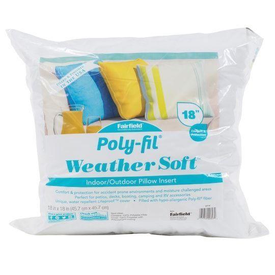 Poly Fil Reg Weather Soft Trade Indoor Outdoor Pillow Insert 18 Quot X 18 Quot By Fairfield Indoor Outdoor Pillows Outdoor Pillows Outdoor Pillow Covers