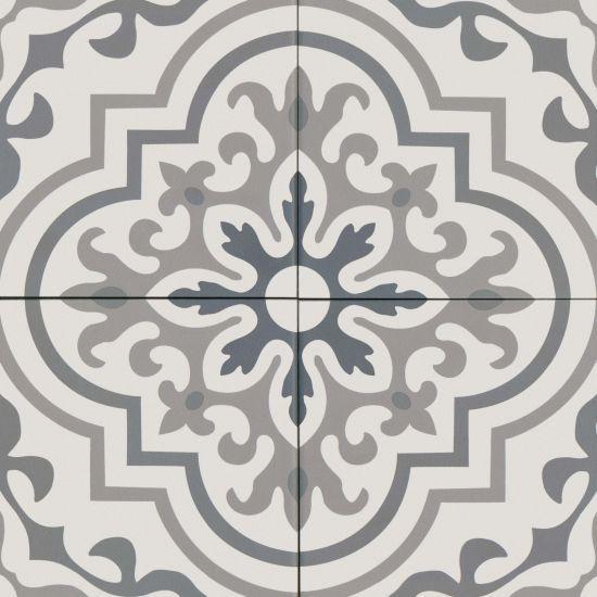 Tuscany 8 X 8 Floor Wall Tile In Dk Blue Blue Gray St Gray Wht Bedrosians Tile Stone Decorative Ceramic Tile Bathroom Floor Tiles Decor