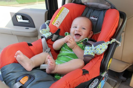 The car seat sidekick holds straps out of the way while you're putting baby in and out. Genius! #giftidea: