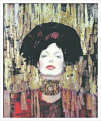 Kundst (Gustav Klimt (At. 862-1918) Judith I (1901) Oil ...